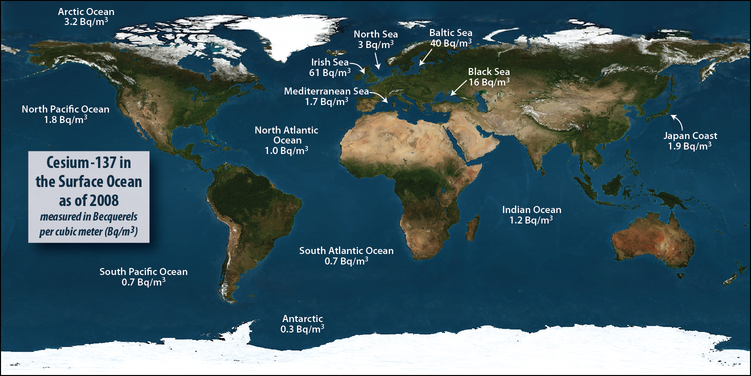 How Radioactive Is Our Ocean - Names of oceans on earth